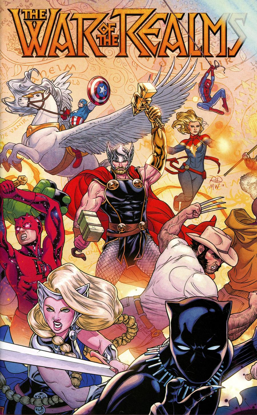 War Of The Realms #1 Cover E Variant Russell Dauterman Young Guns Wraparound Gatefold Cover