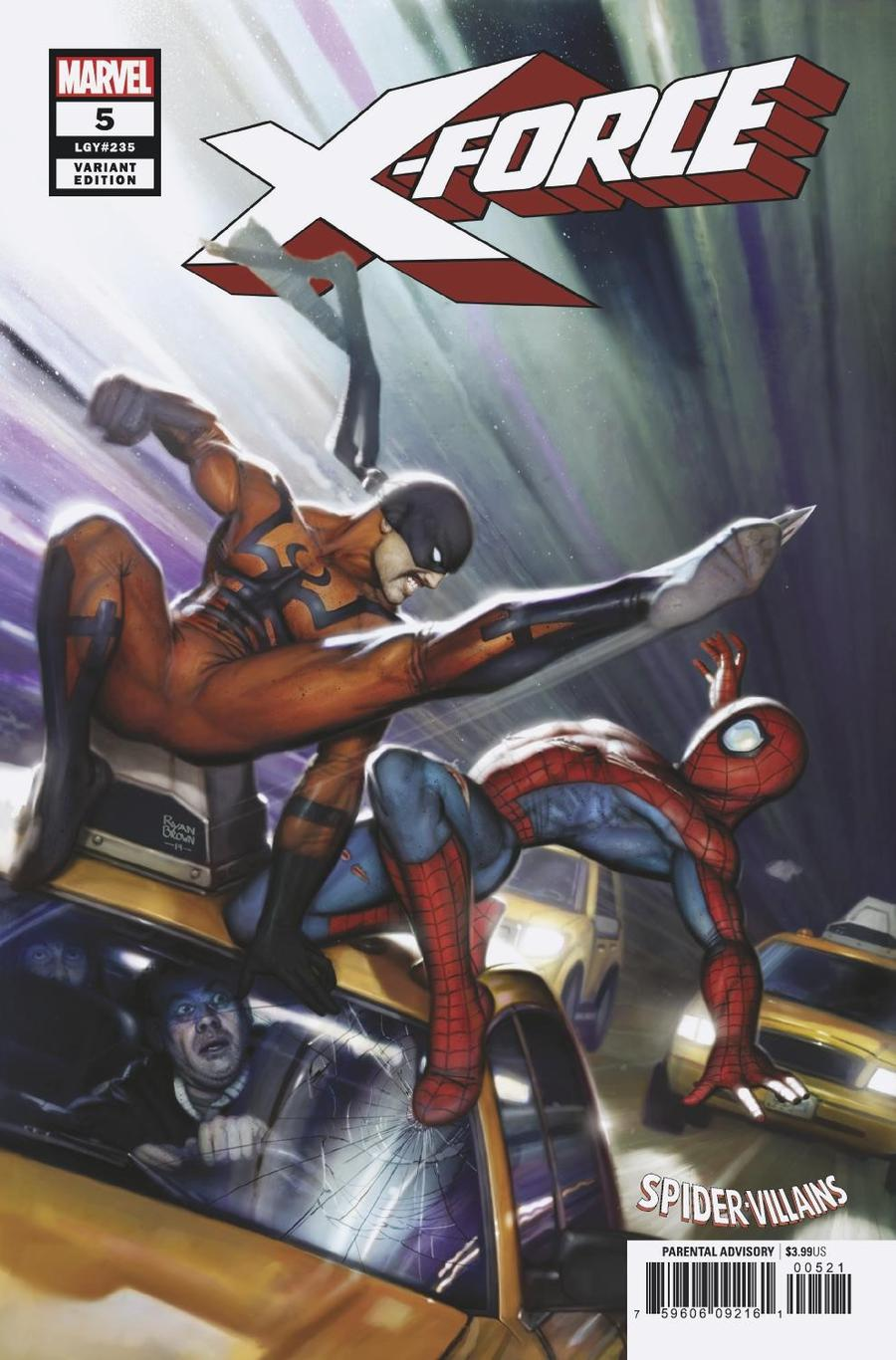 X-Force Vol 5 #5 Cover B Variant Ryan Brown Spider-Man Villains Cover
