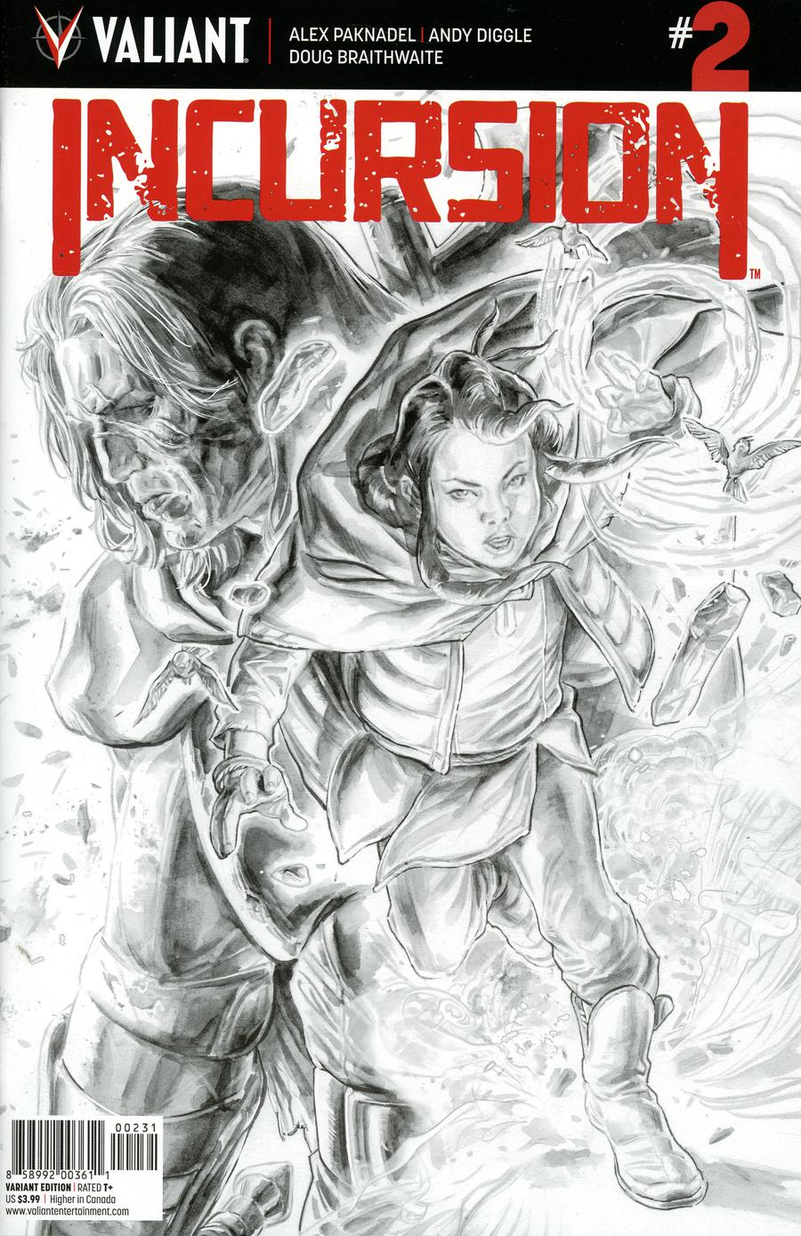 Incursion (Valiant Entertainment) #2 Cover C Variant Doug Braithwaite Sketch Cover