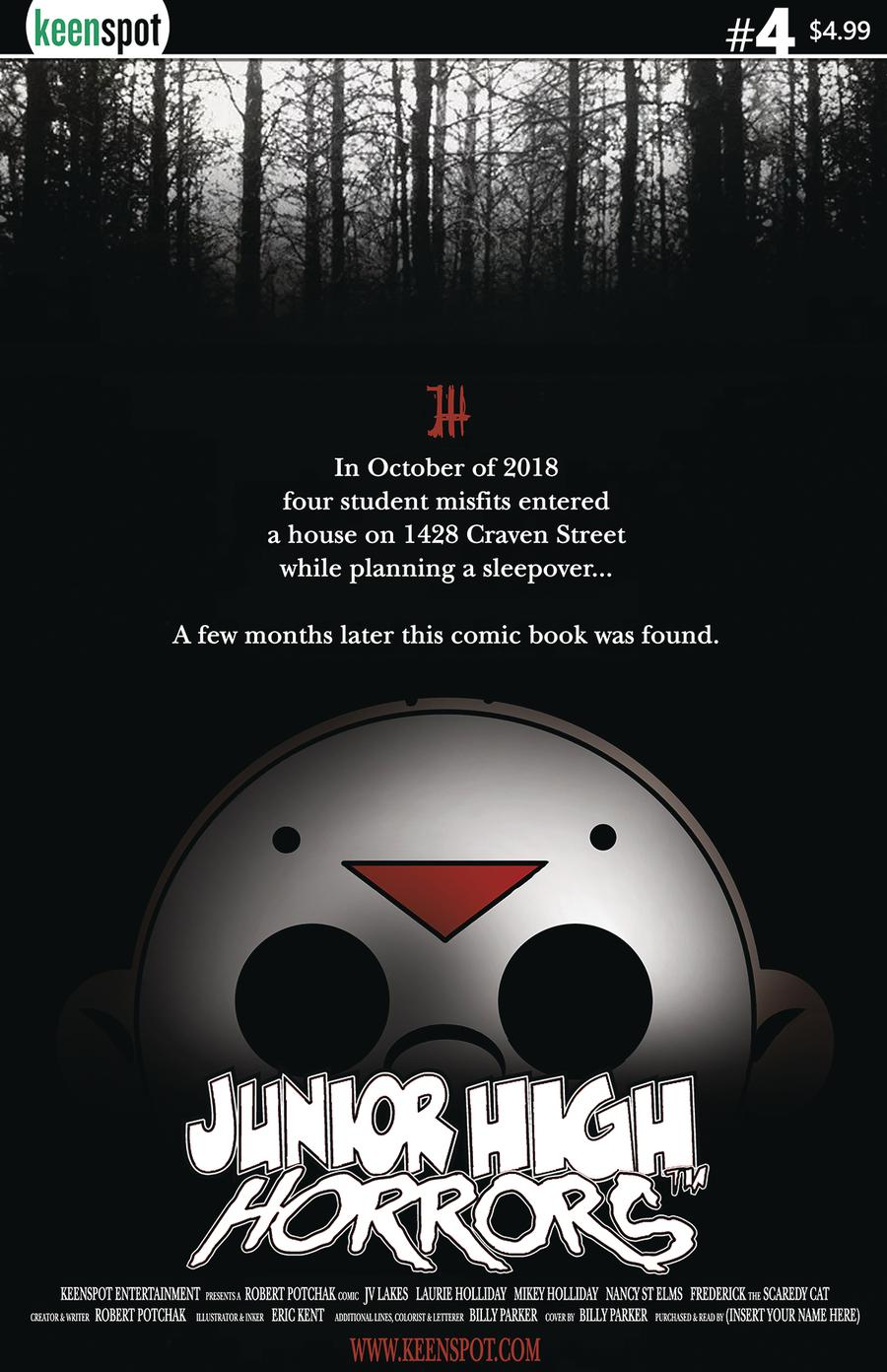 Junior High Horrors #4 Cover B Variant Blair Witch Project Parody Cover