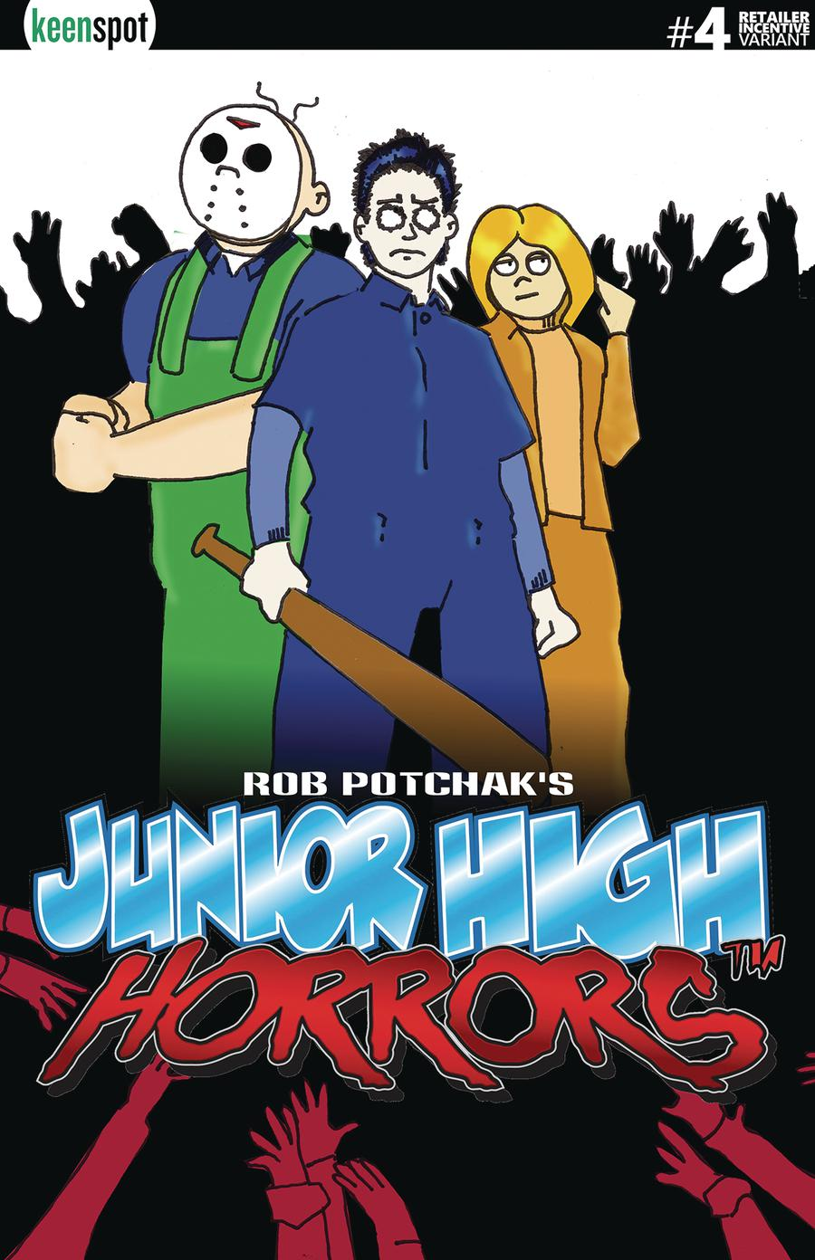 Junior High Horrors #4 Cover D Variant Shaun Of The Dead Parody Cover