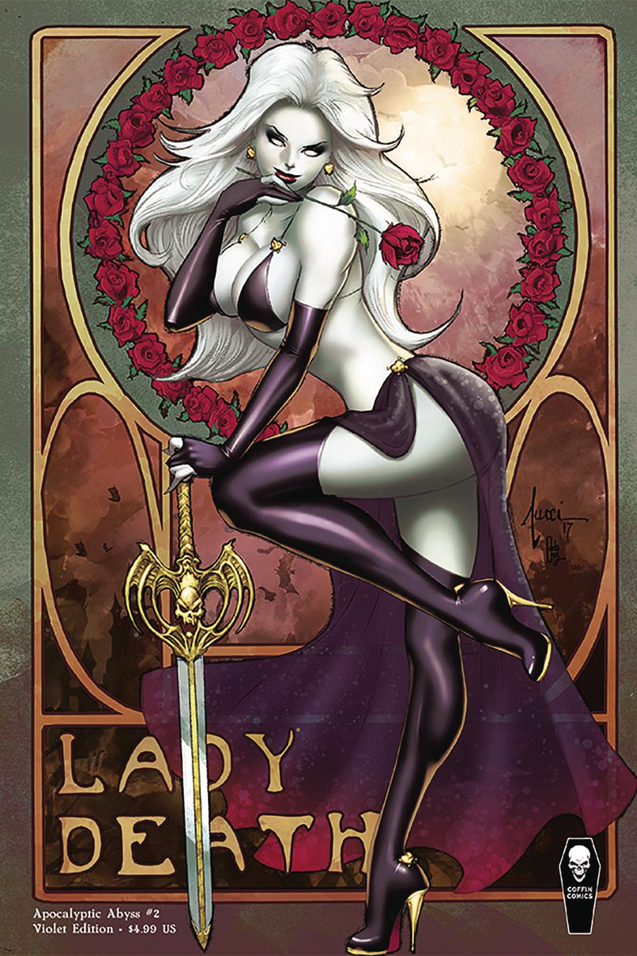 Lady Death Apocalyptic Abyss #2 Cover B Variant Billy Tucci Violet Cover