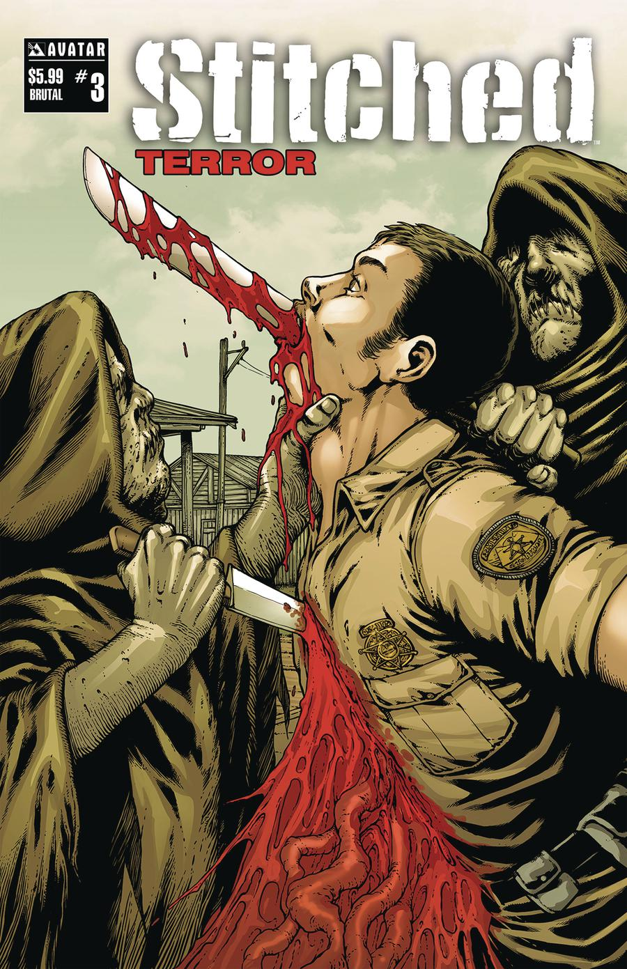 Stitched Terror #3 Cover D Brutal Cover