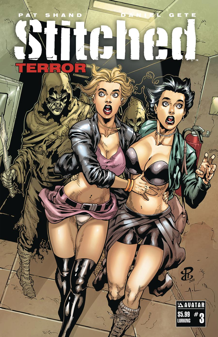 Stitched Terror #3 Cover F Lurking Cover