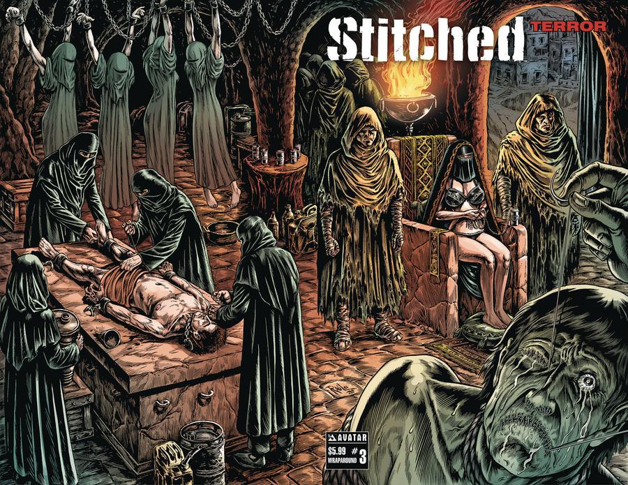 Stitched Terror #3 Cover B Wraparound Cover