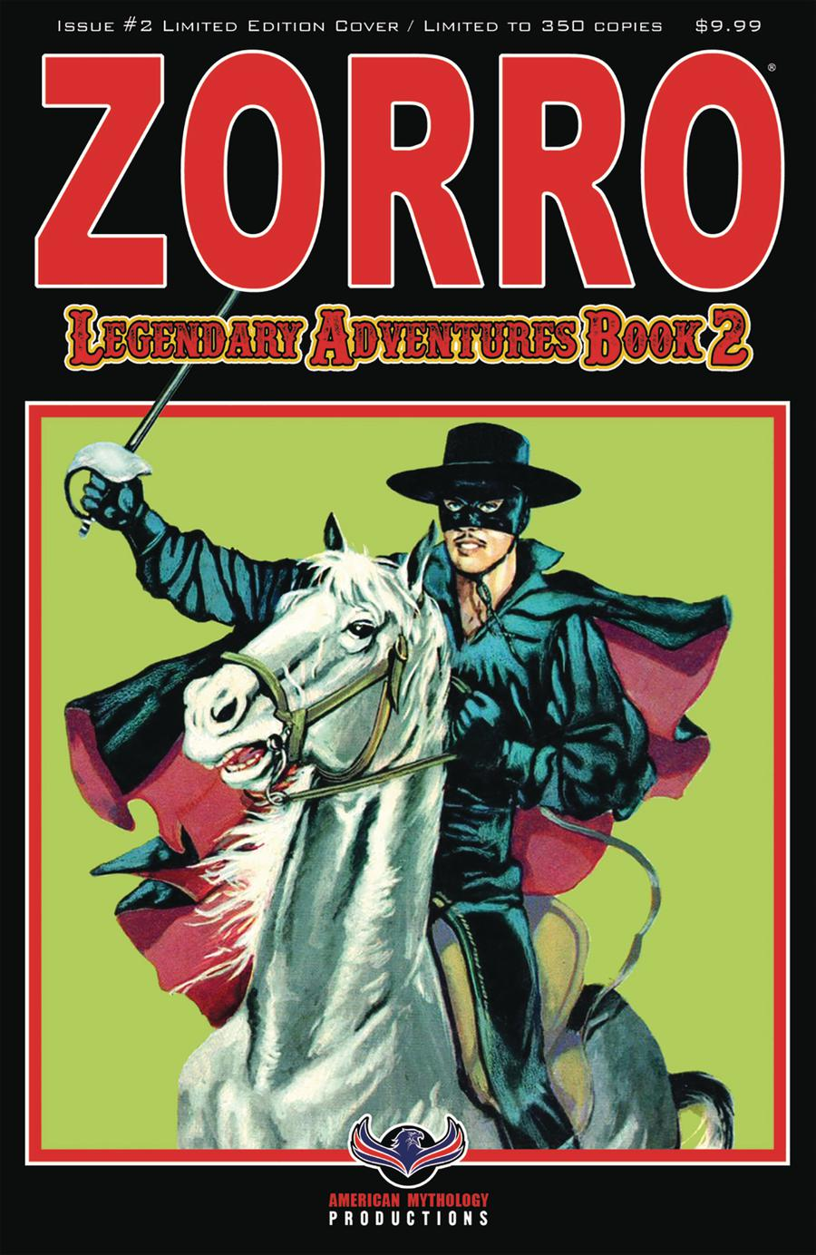 Zorro Legendary Adventures Book 2 #2 Cover B Variant Nicola Del Principe Blazing Blades Limited Edition Cover
