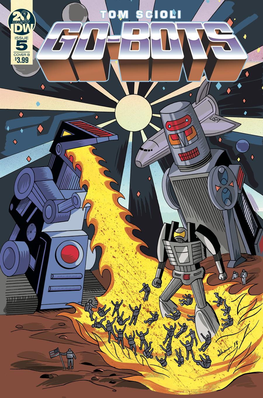 Go-Bots #5 Cover B Variant Dash Shaw Cover