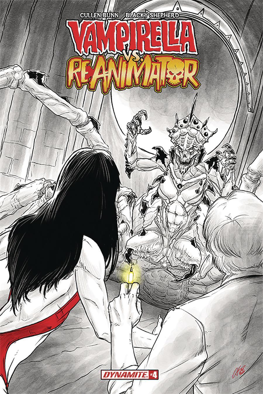 Vampirella vs Reanimator #4 Cover C Variant Blacky Shepherd Cover