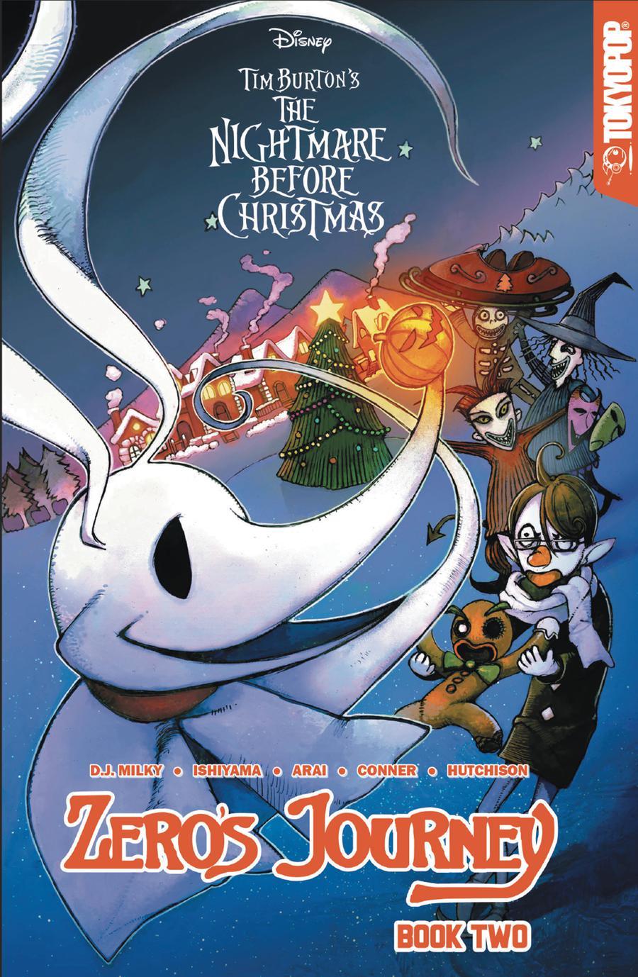 Disney Manga Tim Burtons Nightmare Before Christmas Zeros Journey Vol 2 GN