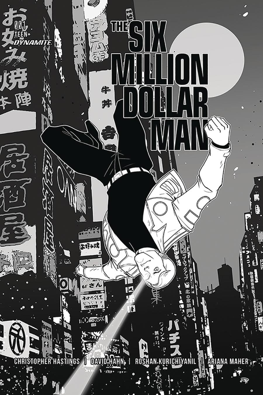 Six Million Dollar Man Vol 2 #1 Cover I Incentive Denis Medri Black & White Cover