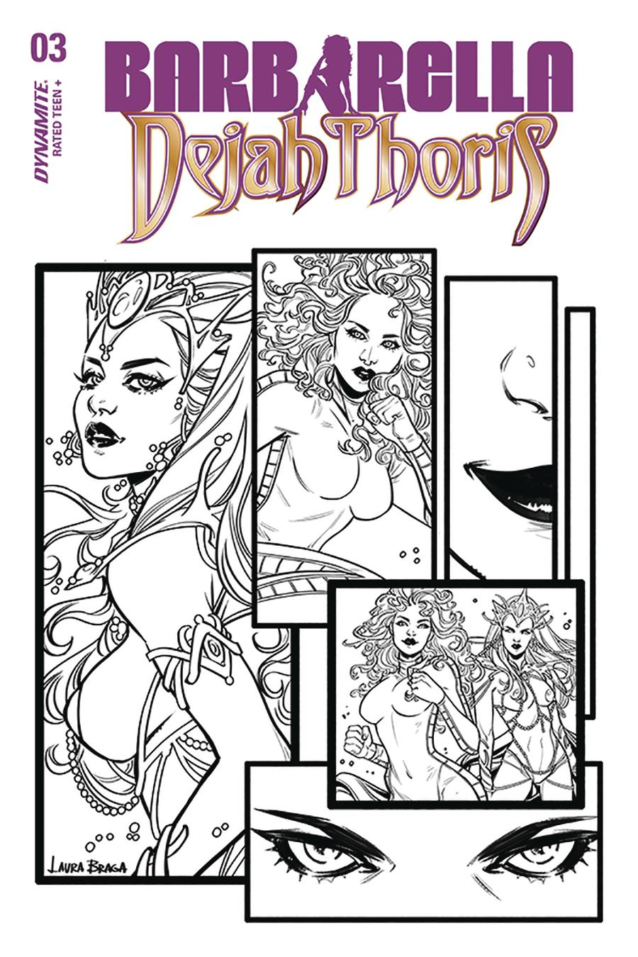 Barbarella Dejah Thoris #3 Cover H Incentive Laura Braga Black & White Cover