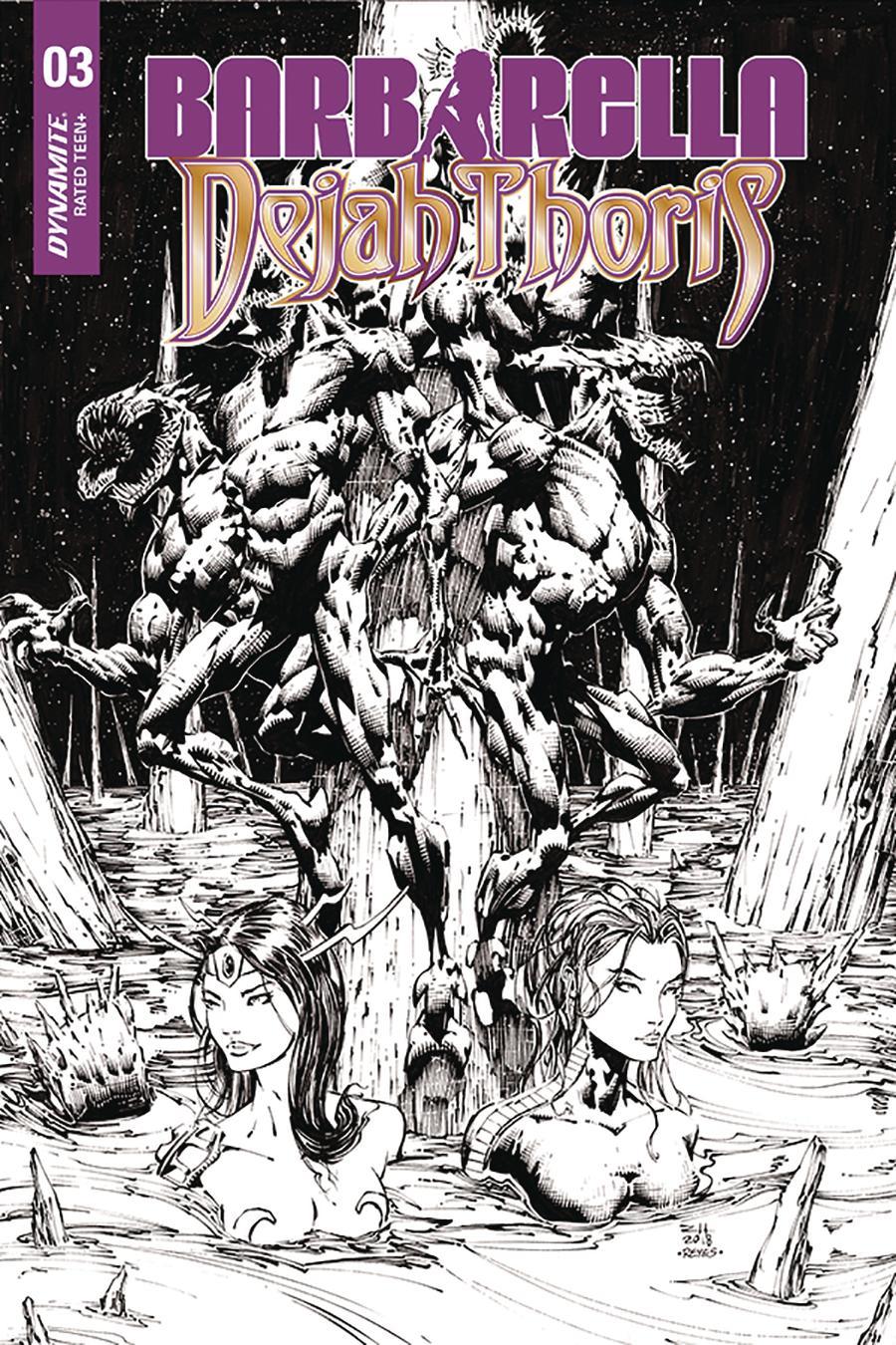 Barbarella Dejah Thoris #3 Cover I Incentive Zach Hsieh Black & White Cover