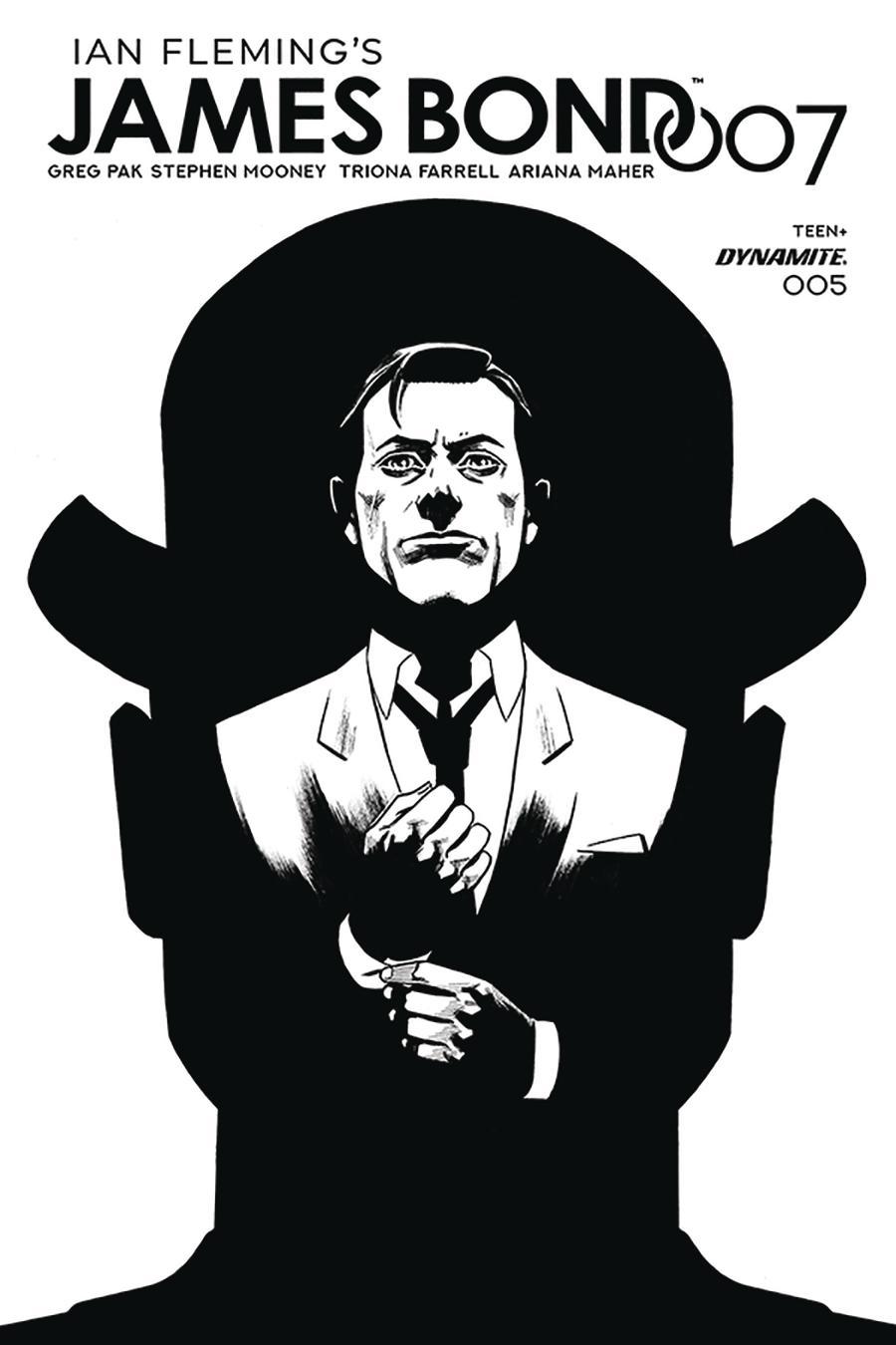 James Bond 007 #5 Cover F Incentive Adam Gorham Black & White Cover