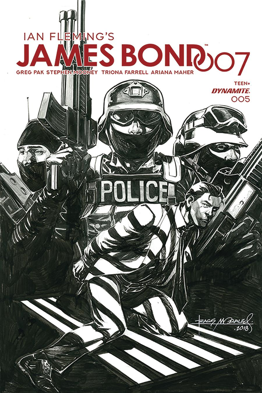James Bond 007 #5 Cover G Incentive Rags Morales Black & White Cover