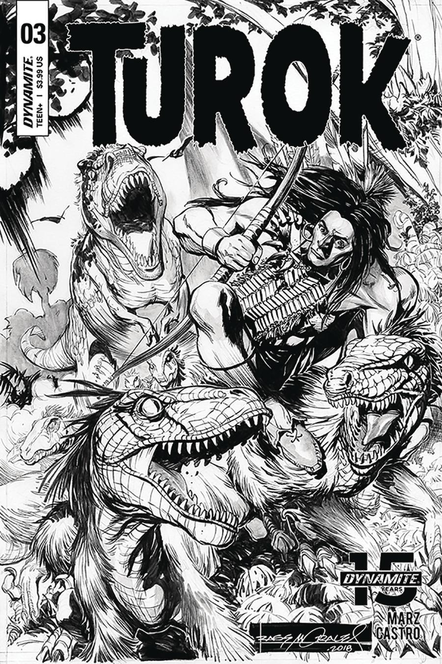 Turok Vol 3 #3 Cover C Incentive Rags Morales Black & White Cover