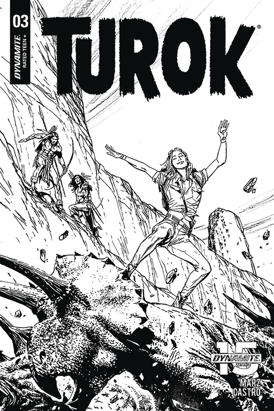 Turok Vol 3 #3 Cover D Incentive Butch Guice Black & White Cover