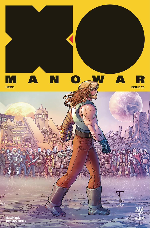 X-O Manowar Vol 4 #25 Cover E Incentive Francis Portela Interlocking Variant Cover