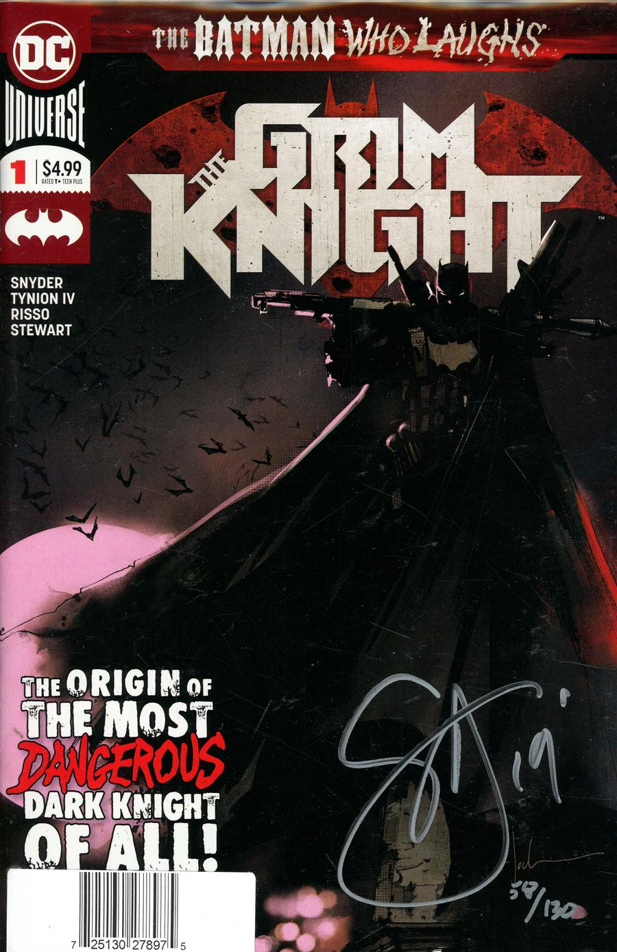 Batman Who Laughs The Grim Knight #1 Cover D DF Signed By Scott Snyder