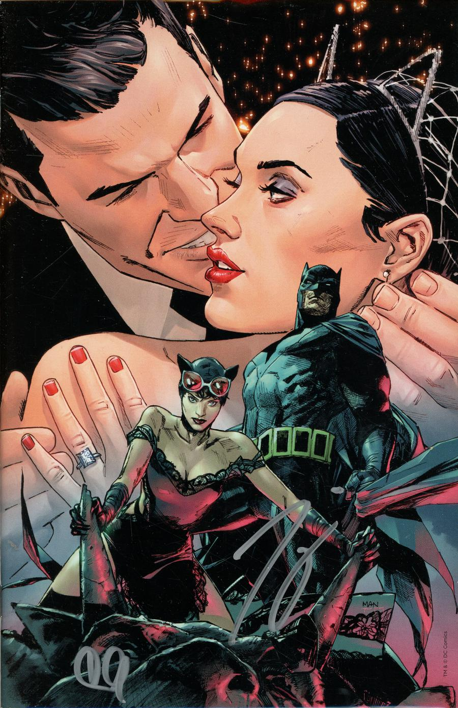 Batman Vol 3 #50 Cover Z-R DF CSA Exclusive Romance Virgin Variant Cover Signed By Tom King & Clay Mann