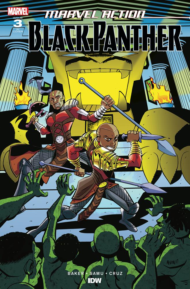 Marvel Action Black Panther #3 Cover B Incentive Michael Avon Oeming Variant Cover