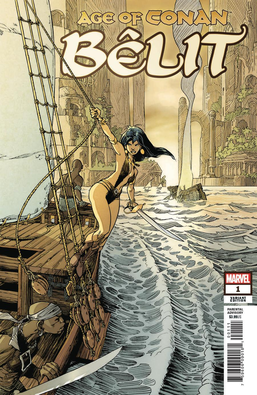 Age Of Conan Belit Queen Of The Black Coast #1 Cover D Incentive Olivier Vatine Variant Cover