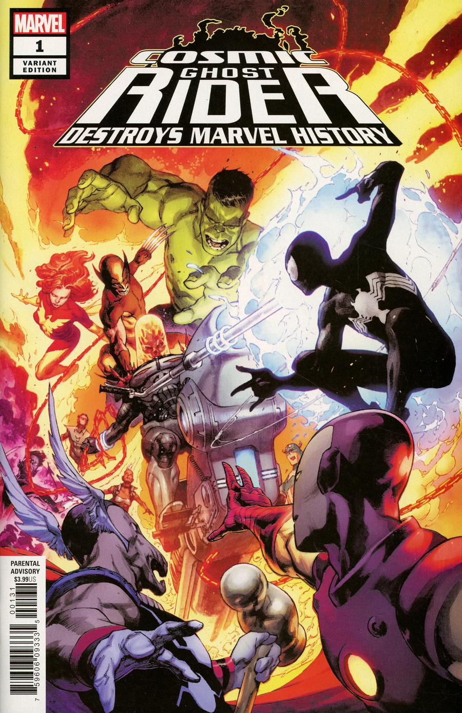 Cosmic Ghost Rider Destroys Marvel History #1 Cover E Incentive Jerome Opena Variant Cover