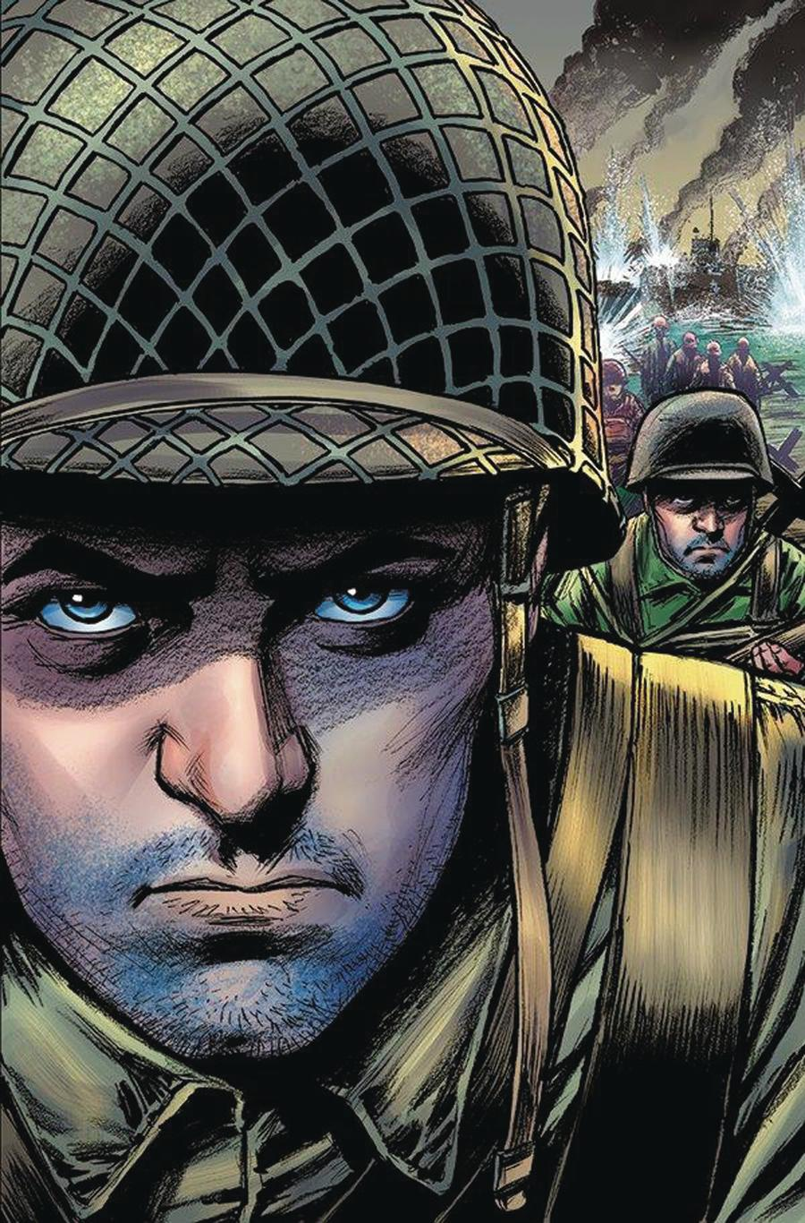 D-Day From The Pages Of Combat One Shot Cover B Variant Russ Braun Cover