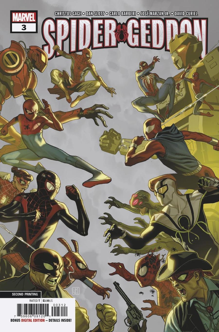 Spider-Geddon #3 Cover E 2nd Ptg Variant Cover