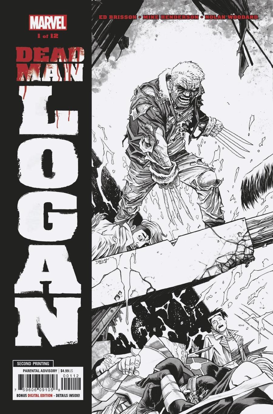 Dead Man Logan #1 Cover F 2nd Ptg Variant Mike Henderson Cover