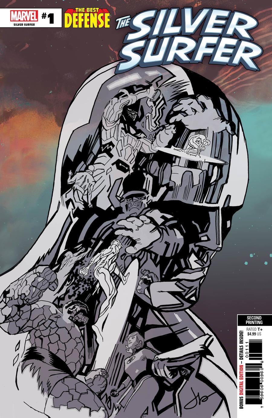 Defenders Silver Surfer #1 Cover F 2nd Ptg Variant Jason Latour Cover (Best Defense Part 4)