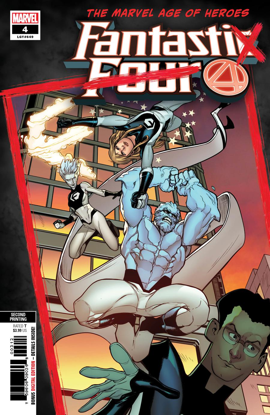 Fantastic Four Vol 6 #4 Cover G 2nd Ptg Variant Stefano Caselli Cover