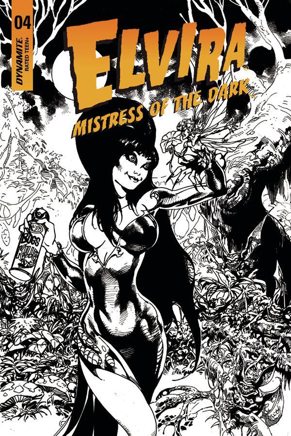 Elvira Mistress Of The Dark Vol 2 #4 Cover G Incentive Roberto Castro Black & White Cover