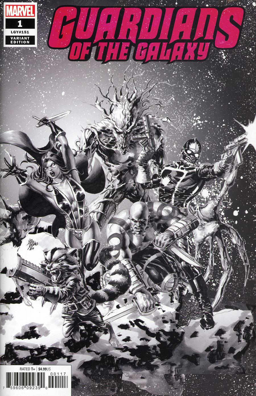 Guardians Of The Galaxy Vol 5 #1 Cover L Incentive Mike Deodato Jr Party Sketch Variant Cover