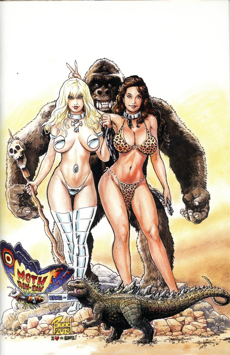 Cavewoman A Wizard A Sorceress And Meriem #1 Cover D Variant Budd Root Cover