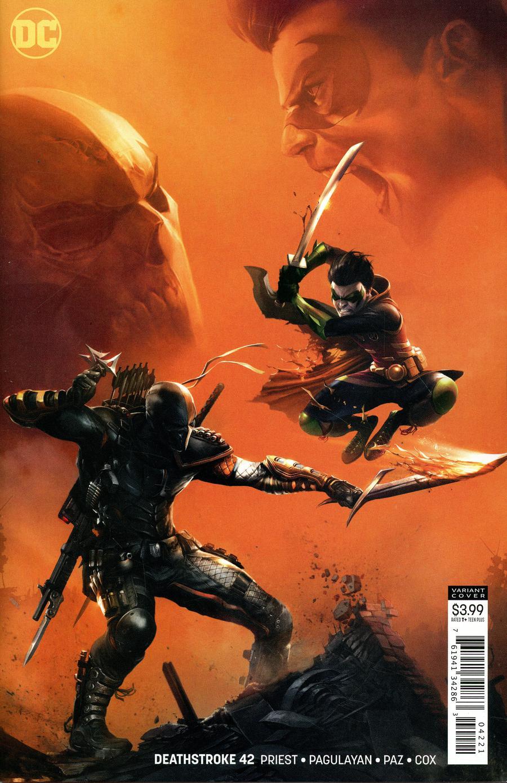 Deathstroke Vol 4 #42 Cover B Variant Francesco Mattina Cover (Terminus Agenda Part 2)