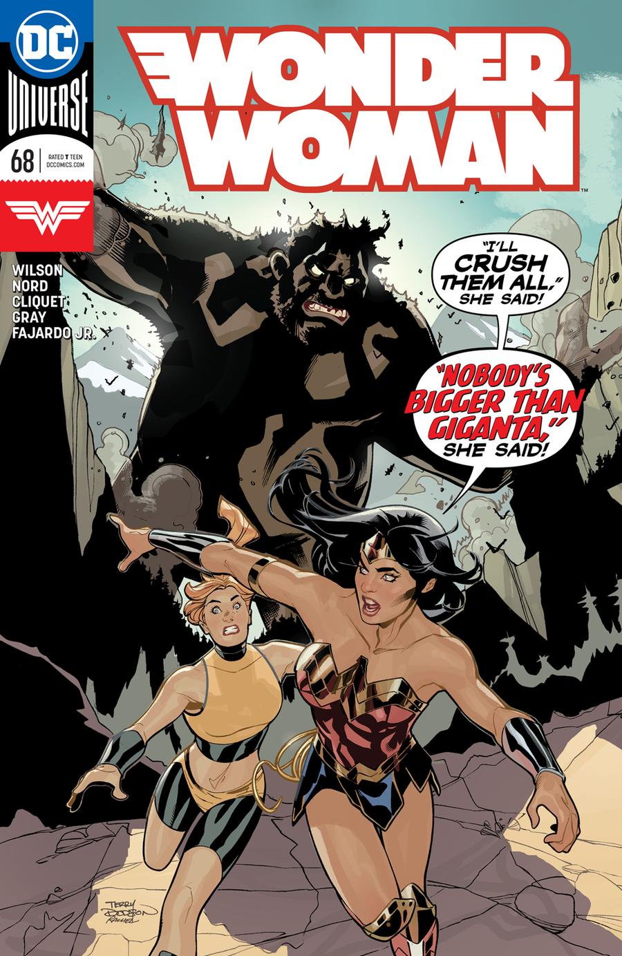Wonder Woman Vol 5 #68 Cover A Regular Terry Dodson & Rachel Dodson Cover