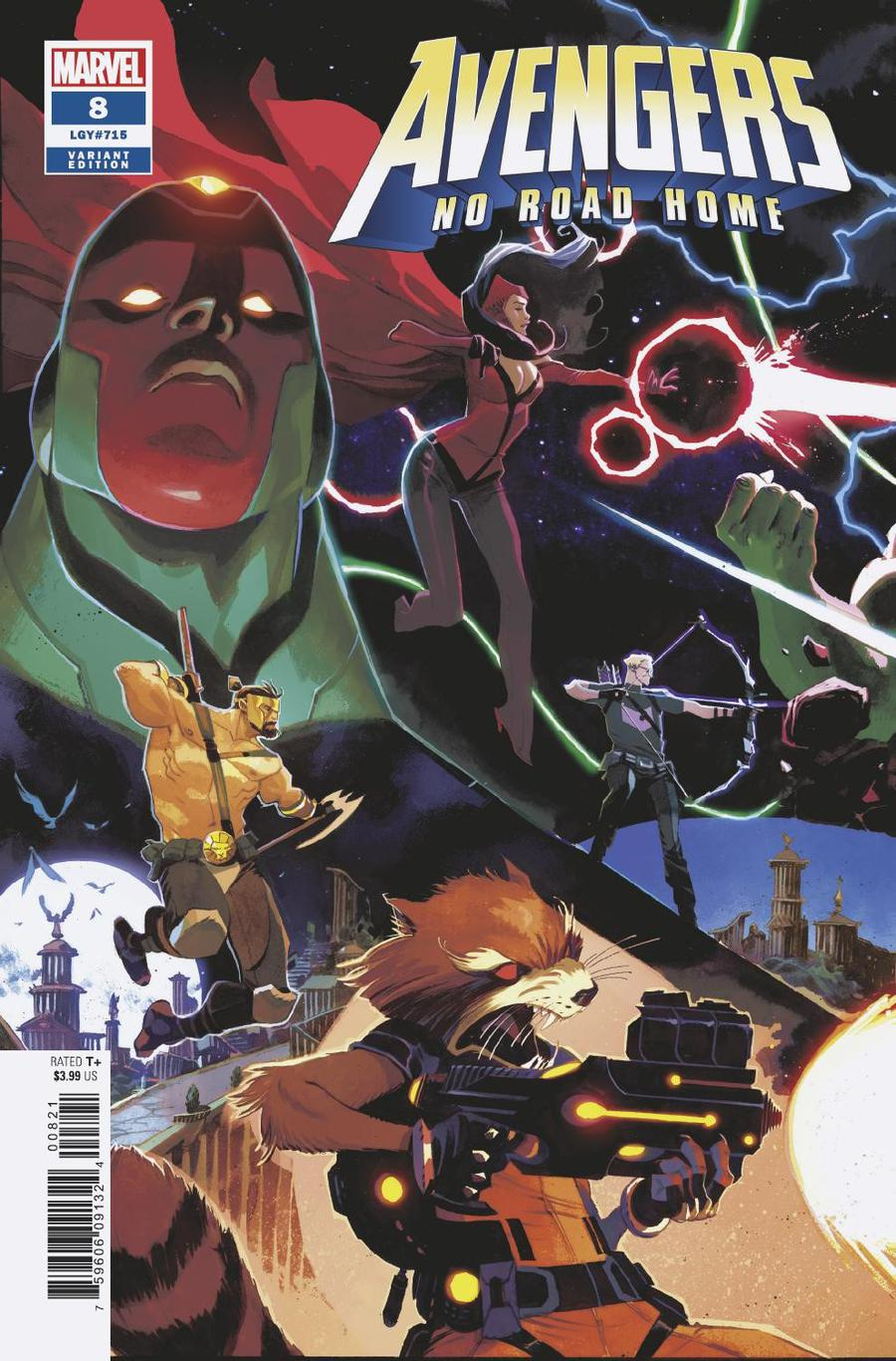 Avengers No Road Home #8 Cover B Variant Matteo Scalera Connecting Cover (1 Of 3)