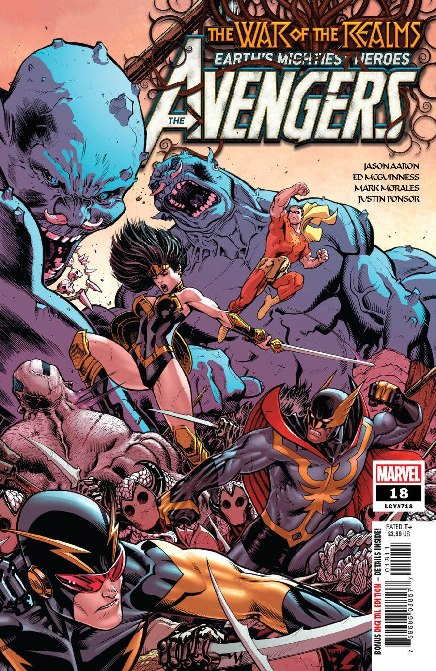 Avengers Vol 7 #18 Cover A Regular Ed McGuinness Cover (War Of The Realms Tie-In)