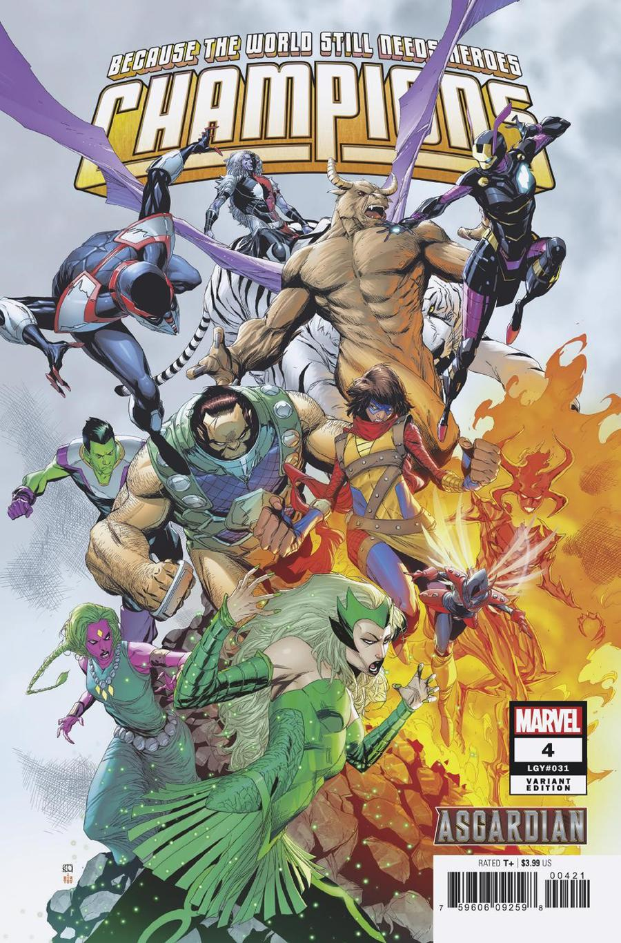 Champions (Marvel) Vol 3 #4 Cover B Variant Khoi Pham Asgardian Cover
