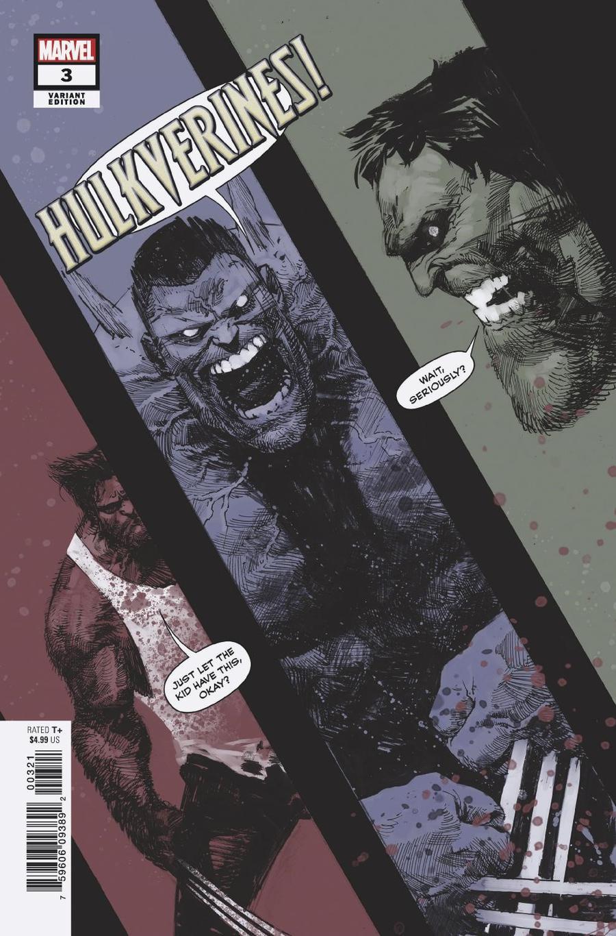 Hulkverines #3 Cover B Variant Gerardo Zaffino Cover