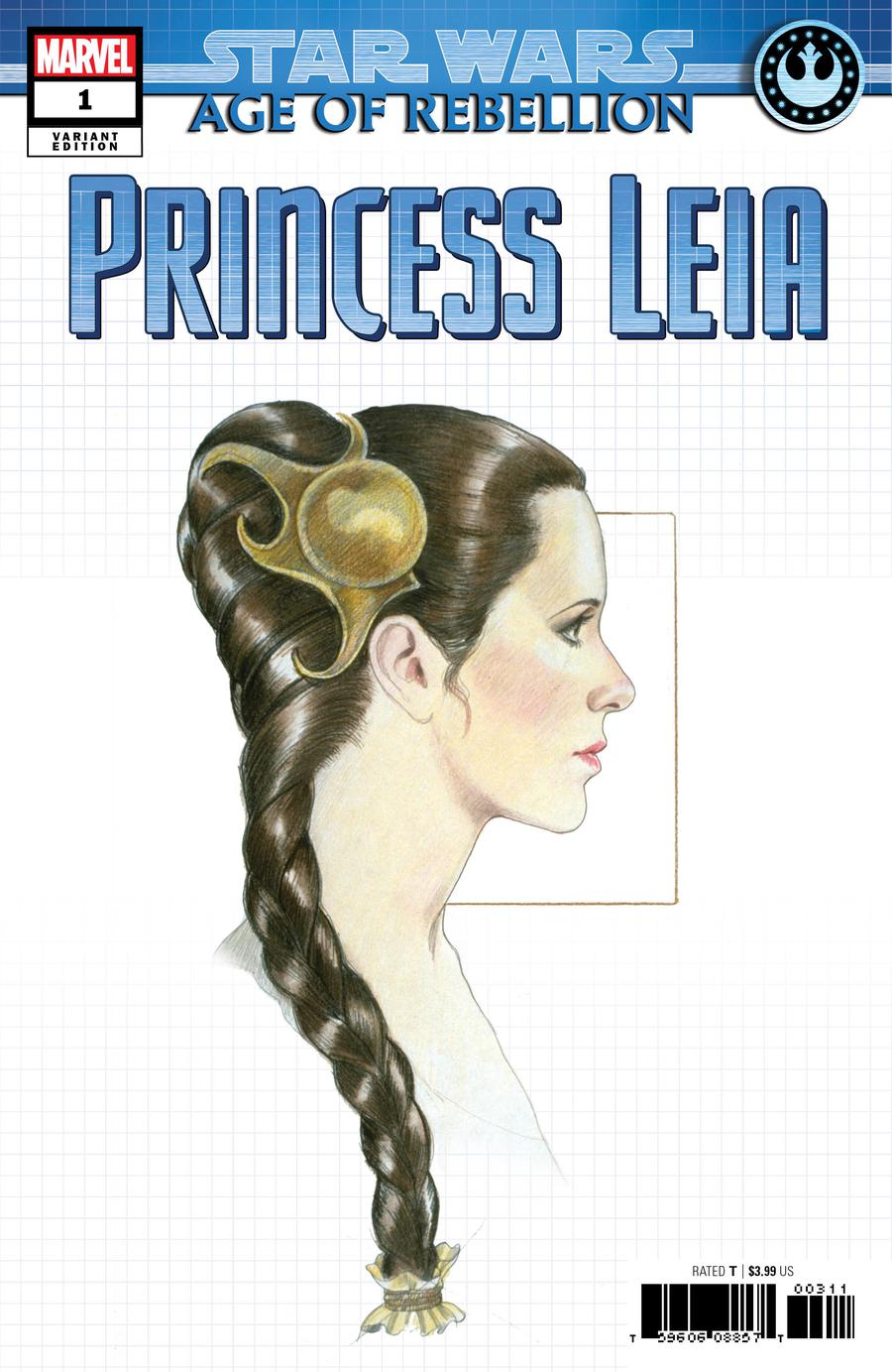 Star Wars Age Of Rebellion Princess Leia #1 Cover C Variant Concept Design Cover