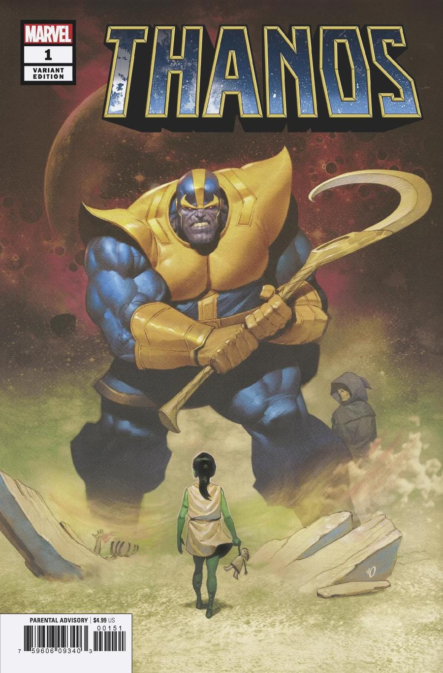 Thanos Vol 3 #1 Cover C Variant Ariel Olivetti Cover