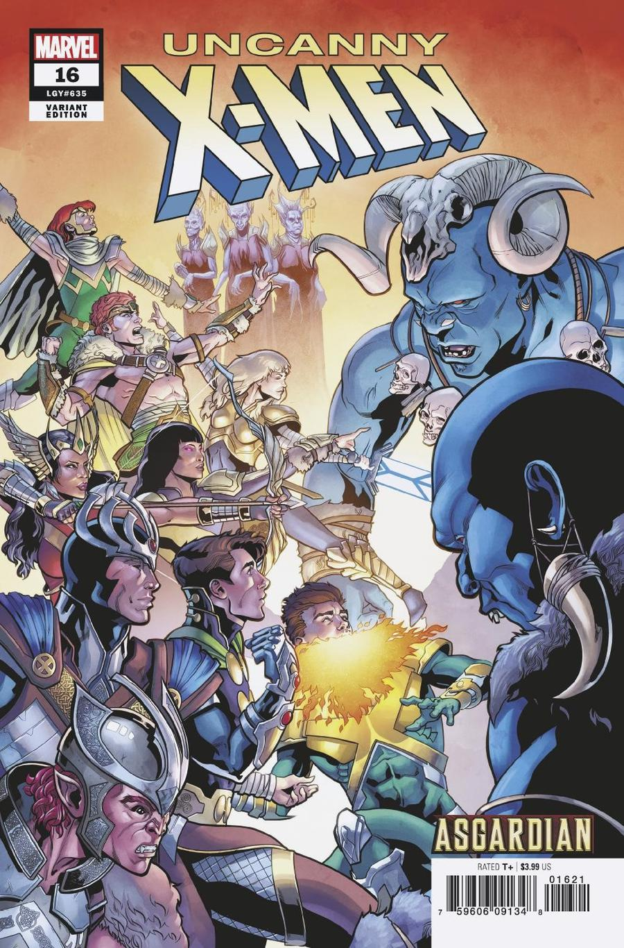 Uncanny X-Men Vol 5 #16 Cover B Variant Will Sliney Asgardian Cover