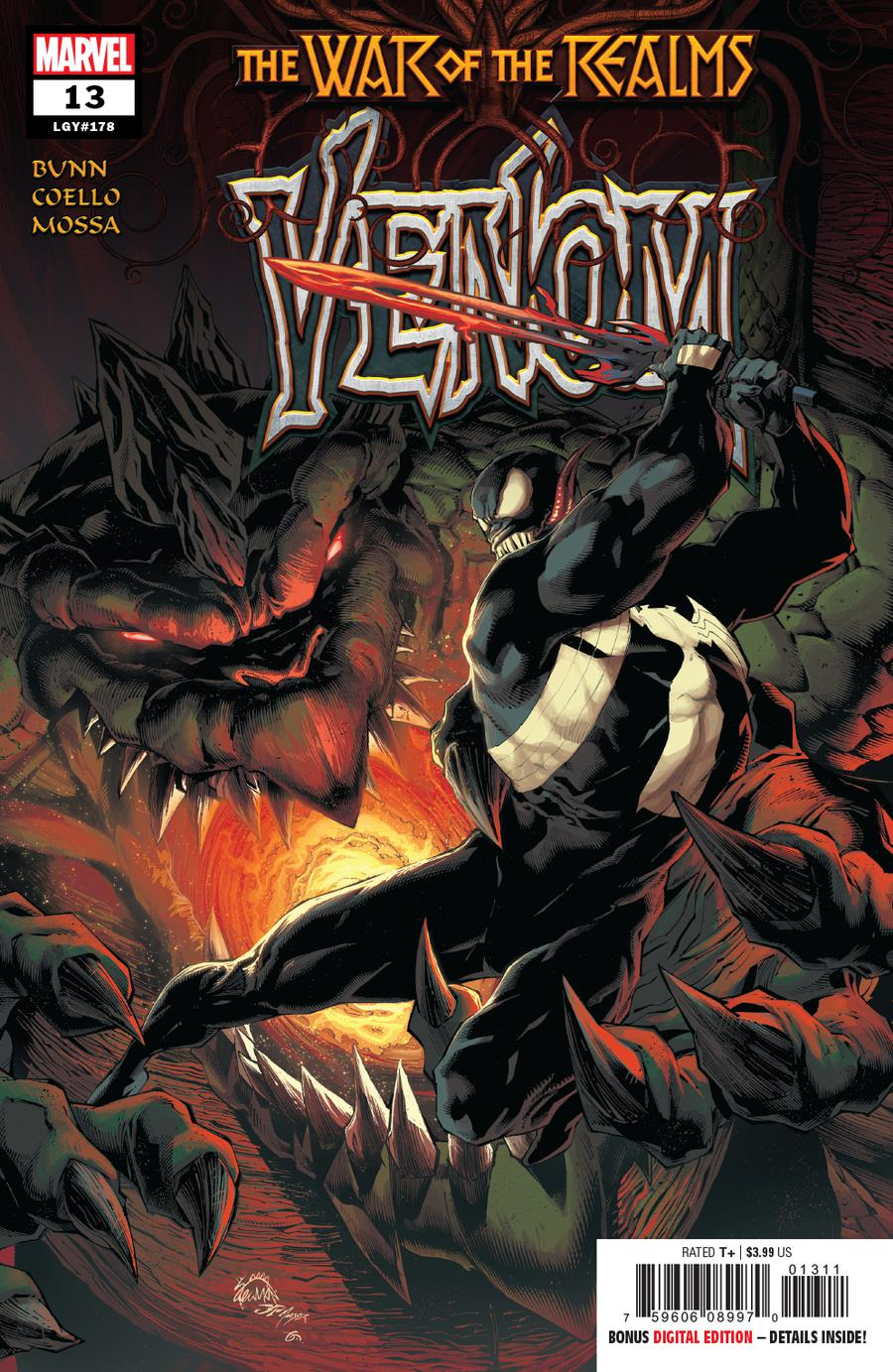 Venom Vol 4 #13 Cover A 1st Ptg Regular Ryan Stegman Cover (War Of The Realms Tie-In)