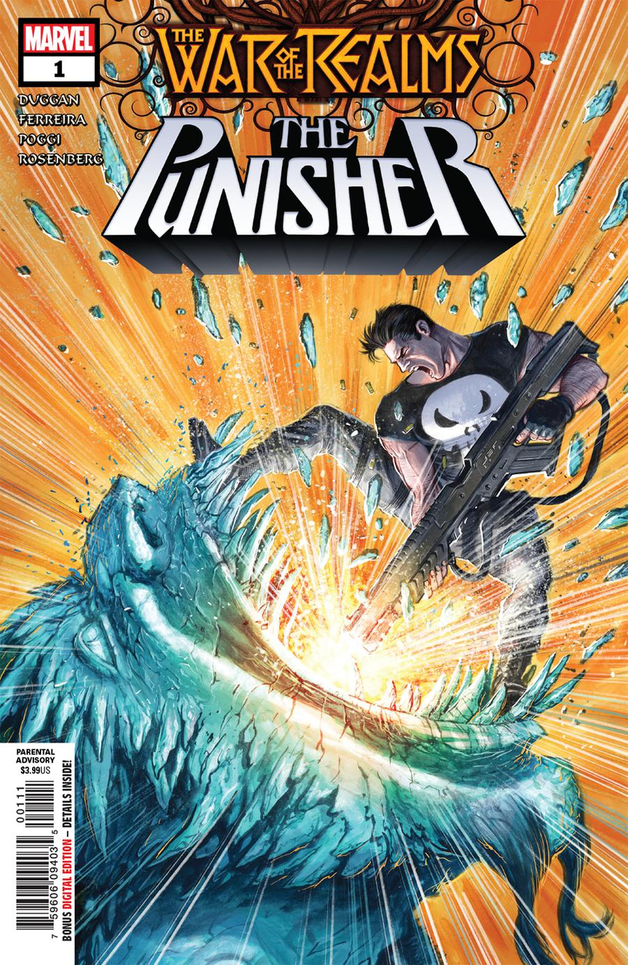 War Of The Realms Punisher #1 Cover A 1st Ptg Regular Juan Ferreyra Cover
