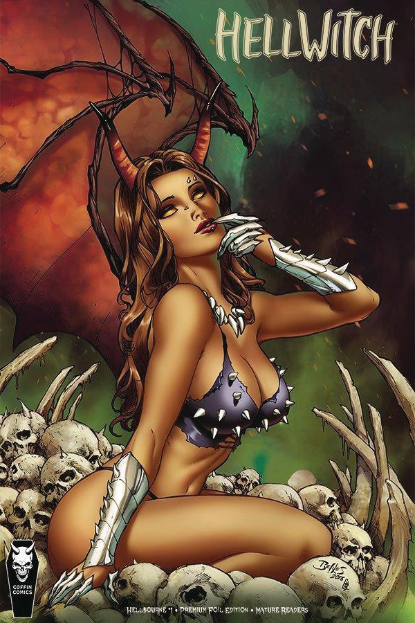 Hellwitch Hellbourne #1 Cover C Variant Ed Benes Premium Foil Cover