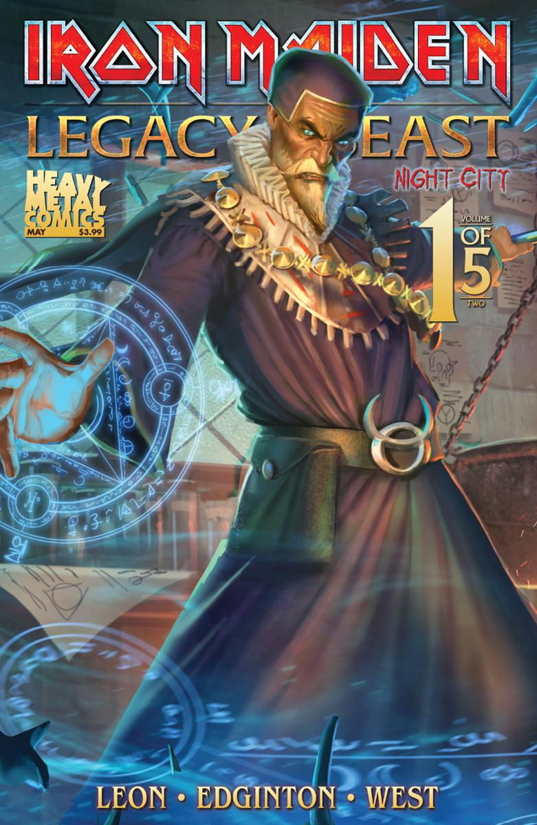 Iron Maiden Legacy Of The Beast Vol 2 Night City #1 Cover C Variant Santi Casas Cover