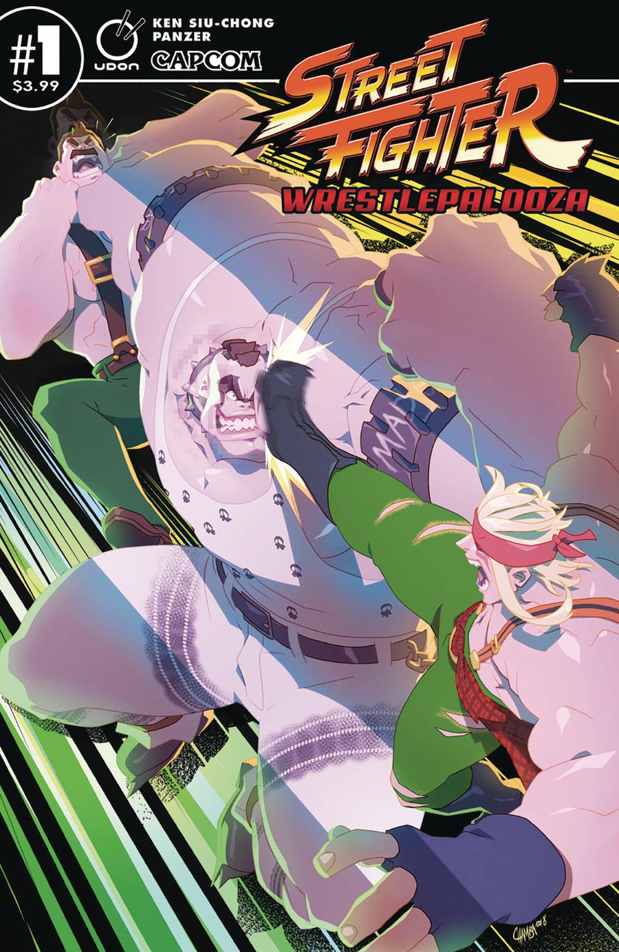 Street Fighter Wrestlepalooza #1 Cover B Variant Jeffrey Chamba Cruz Cover