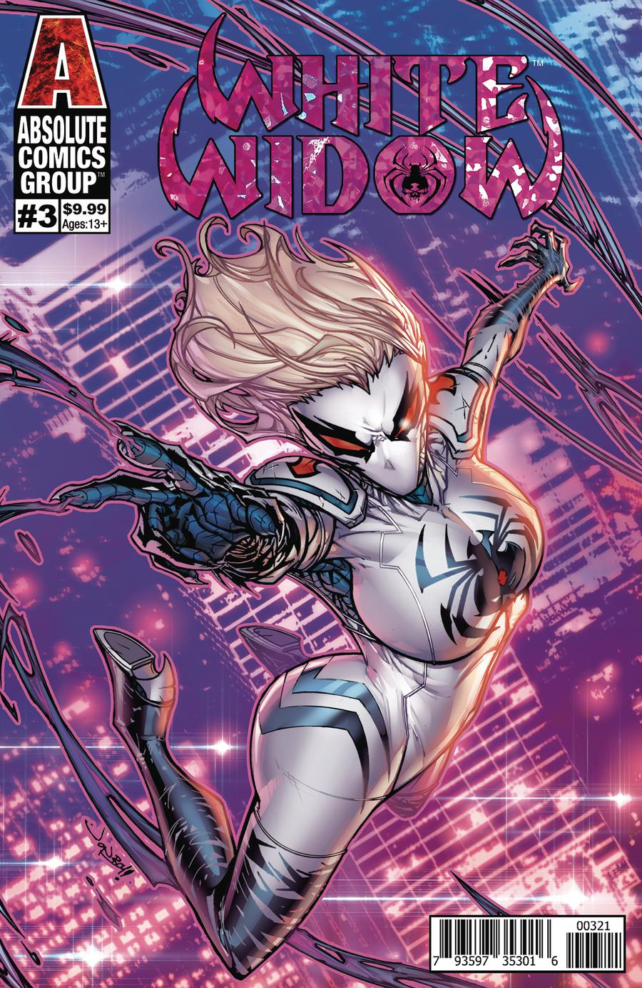 White Widow #3 Cover B Variant Jonboy Meyers Foil Cover