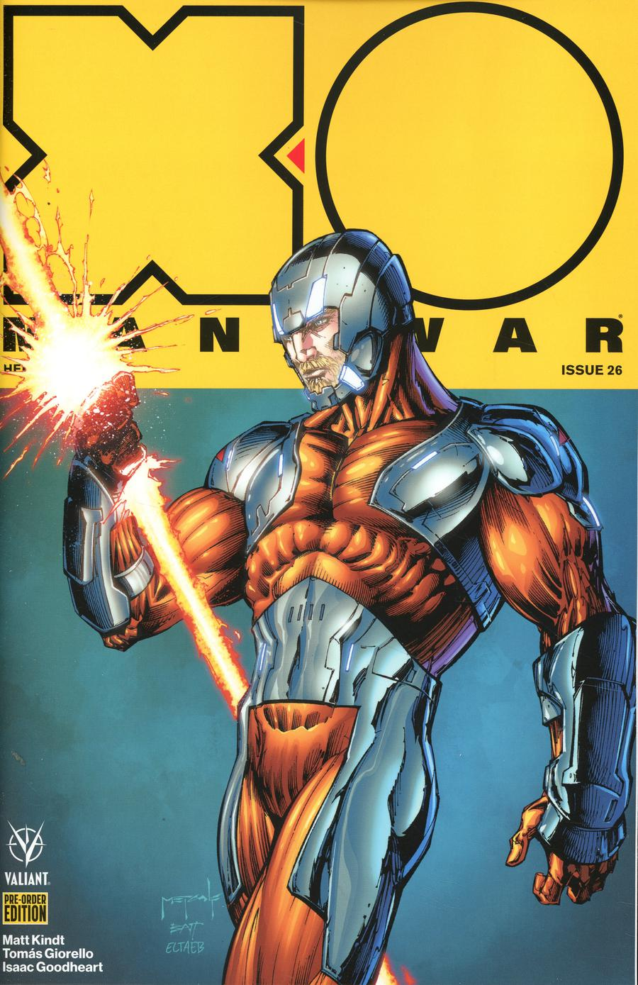 X-O Manowar Vol 4 #26 Cover D Variant Tomas Giorello Cover